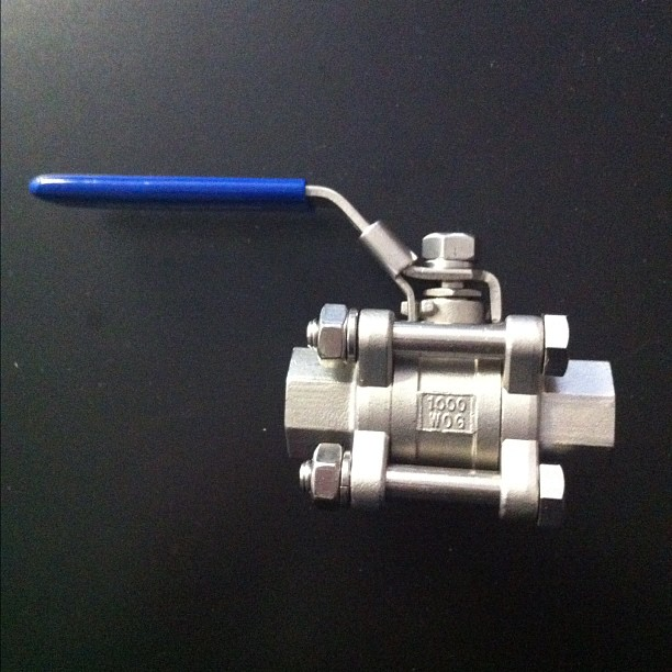 "This is the 3 piece 1/2"" valve we will use for our #Brew #pot get your #brewing supplies at www.directmaterial.com"