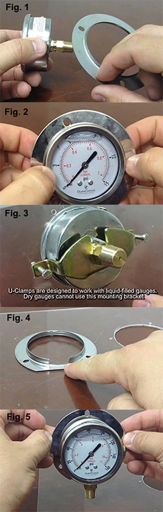 How to install gauges using mounts