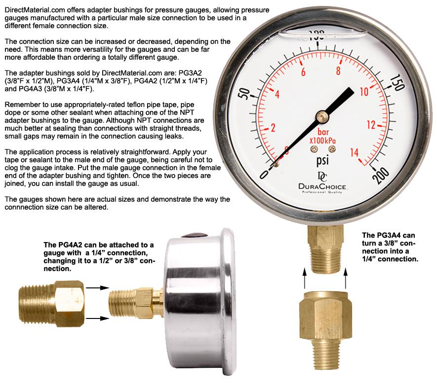 how to connect copper pipe to a pressure guage
