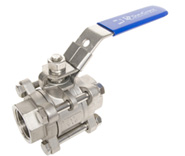 Three-piece ball valve can be opened up as opposed to two-piece ball valves.