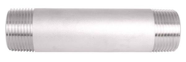 "1/4"" Diameter Sch. 80 Seamless Stainless Steel Nipples"