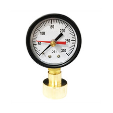 "2"" Water Test Gauge, water or gas lines, 3/4"" NPT Top Connection, Black Steel Case, Brass Internals<br>"