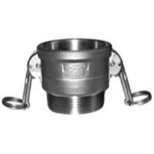 304 Stainless Cam and Groove Couplings - Female Coupler x Male NPT