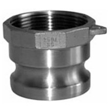 304 Stainless Cam and Groove Couplings - Female NPT x Male Adapter
