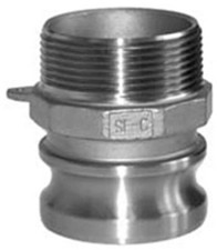 304 Stainless Cam and Groove Couplings - Male Adapter x Male NPT