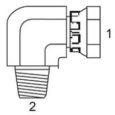 37 Flare To Pipe - 90 JIC Swivel Female x Male Pipe