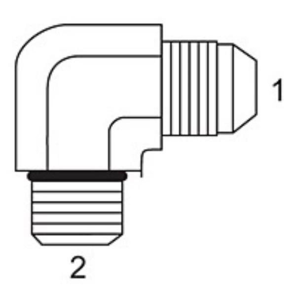 90 Male JIC x Male O-Ring Elbow JIC Adapters