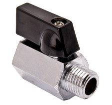 Mini Brass Ball Valve - Chrome Plated FxM