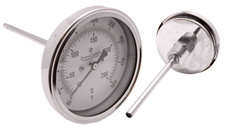"Industrial Thermometer 3"" Face - Stainless Steel Case"