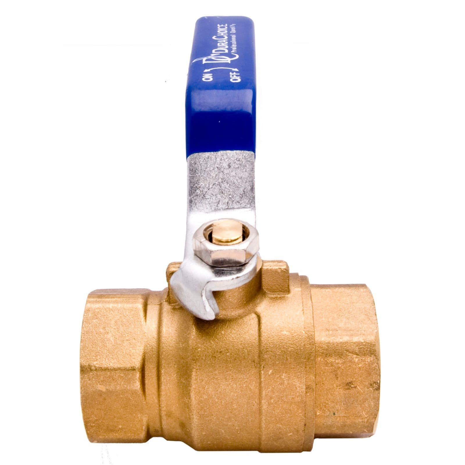 """Full Port 600WOG for Water 1//2/"""" Brass Ball Valve with Blue Handle Oil Gas"""