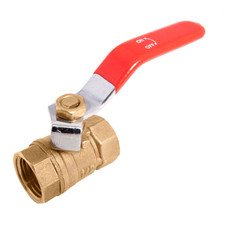 Brass Ball Valve - Standard Port 400WOG, w/Red Handle and No Logo