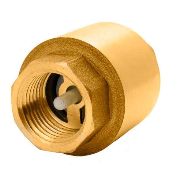 Brass In-Line Spring-Assisted Check Valve - 200 PSI (WOG)