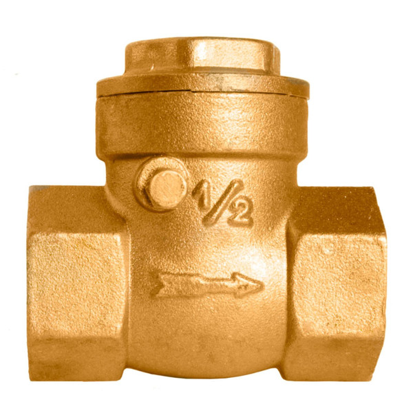 Brass Swing Check Valve - 125 PSI (WOG)