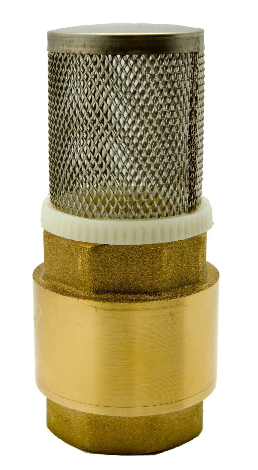 brass vertical spring assisted check valve foot valve. Black Bedroom Furniture Sets. Home Design Ideas