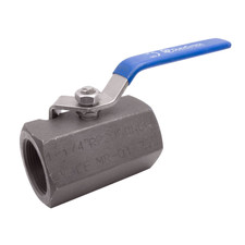 Carbon Steel Standard Port Ball Valve, Hex Bar Stock, 2,000 PSI (WOG)