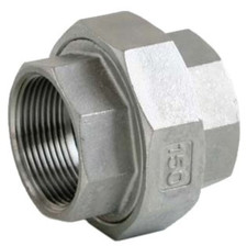 Conical Union Fitting, available in SS316 and SS304.