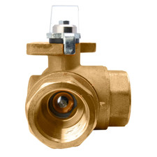 Direct Mount 3 Way Brass Ball Valve - Series 355N(T) / 365N(L)