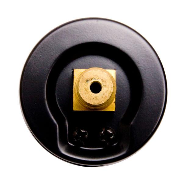 "DuraChoice 2"" Dial Utility Pressure Gauge for Air Compressor Water Oil Gas, 1/4"" NPT Center Back Mount, Black Steel Case"