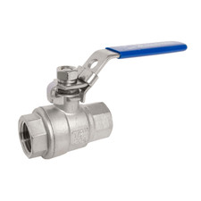 304 Stainless Steel Ball Valve - Full Port - 1,000 WOG (PSI) Heavy Duty for Water, Oil, and Gas with Blue Locking Handles, NPT