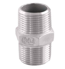 MxM NPT Fitting with Hex nut at center. Available in both SS316 and SS304