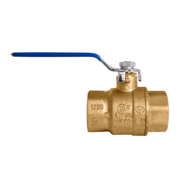 Lead-Free Brass Ball Valve w/ optional locking handle - UL, CSA, FM and UPC Certified
