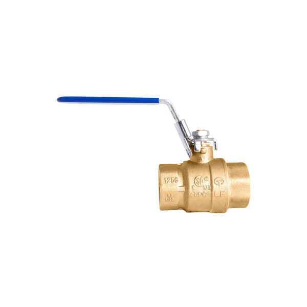 Locking Handle Brass Ball Valve - UL, CSA, FM and UPC certified Lead-Free
