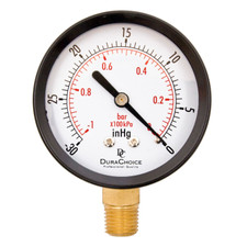Lower Mount Dry Utility Vacuum Gauge