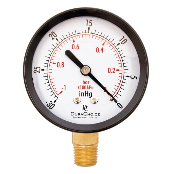 Lower Mount Dry Utility Vacuum Gauge