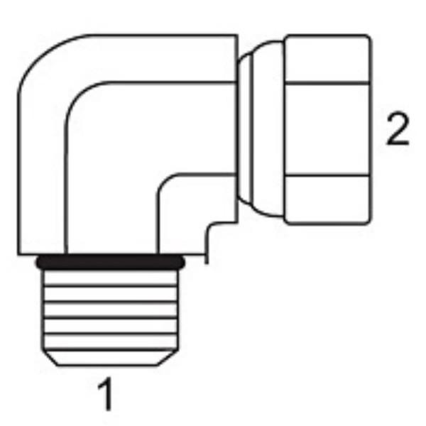 Male 90 O-Ring x Steel JIC Swivel Female Elbow Adapters