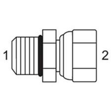 Male O-Ring x Female JIC Swivel Adapters