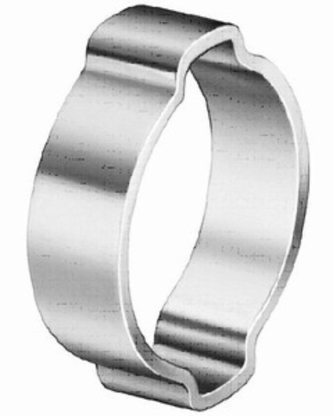 Zinc plated carbon steel SAE 1008/1010 or DIN 1.0338, Clamp size range 4.1 - 46.0 mm.