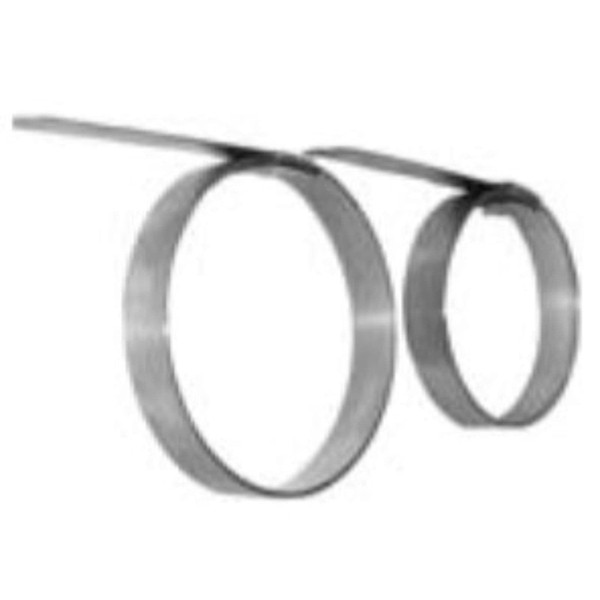 """Preformed Stainless Clamps 5/8"""" and 3/4"""" Wide Smooth ID"""