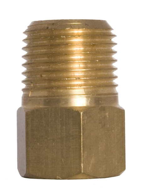 Pressure Gauge Connection Bushings in brass, NPT Threaded. Multiple sizes available.