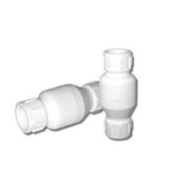 PVC Inline Check Valve with SS Spring