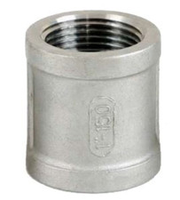 NPT threaded FxF banded socket, available in both SS304 and SS316.