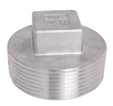 Male x Closed End Plug with NPT threading. Square on closed end allows for easy tightening.