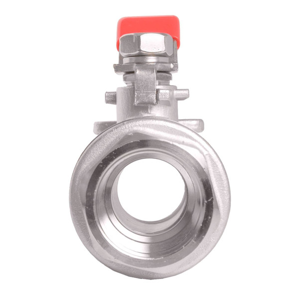 Stainless Steel 304 Ball Valve - Non-Locking Full Port 1,000 psi (WOG) w/ red handle