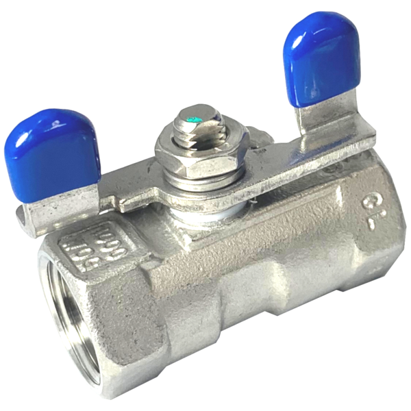 Stainless Steel (316) Ball Valve - 1 piece Standard Port, 1,000 psi (WOG) w/ butterfly handle