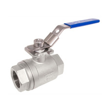 Stainless Steel (316) Ball Valve - 2 Piece w/ Mounting Pad, 1,000 PSI