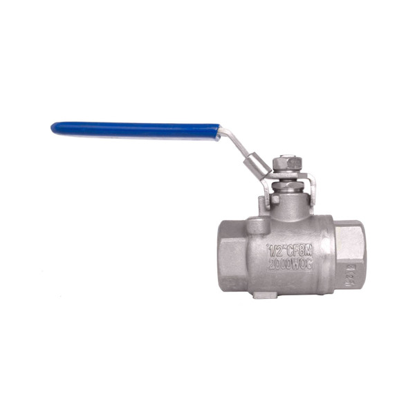 Stainless Steel 316 (CF8M) Seal Welded Full Port Ball Valve - 2,000 PSI (WOG)