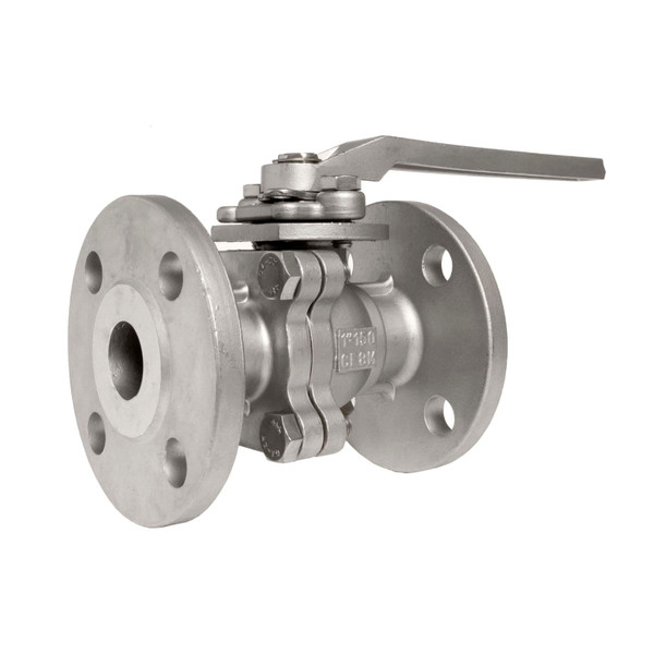 Stainless Steel (316) Flange Ball Valve - 2 Piece, ANSI-Class 150 lb.