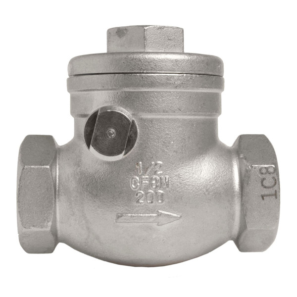 Stainless Steel 316 Swing Check Valve - 200 PSI (WOG)