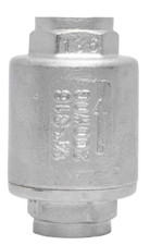 Stainless Steel (316) In-Line Spring Check Valve and Stainless Steel Filter - 2 Piece