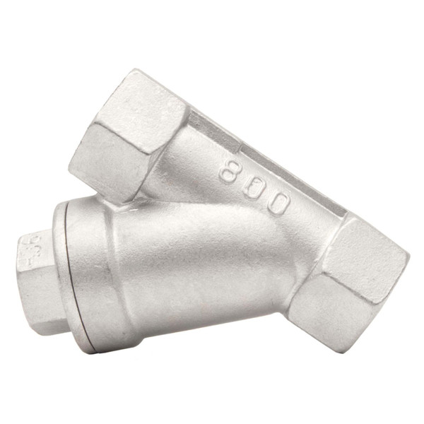 Stainless Steel 316 Y-Spring Check Valve, 800 PSI