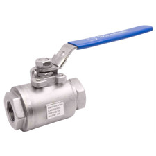 High Pressure Stainless Steel Seal-Welded Full Port Ball Valve - 6,000 PSI (WOG)