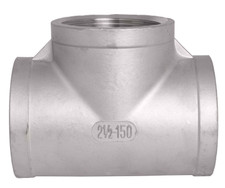 NPT Threaded Fitting with FxFxF openings. Available in SS304 and SS316.