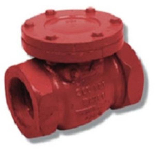 Threaded Cast Iron Swing Check Valve - Resilient seat